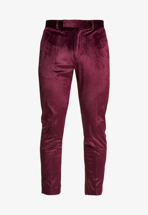 VELVET PARTY - Broek - burgundy
