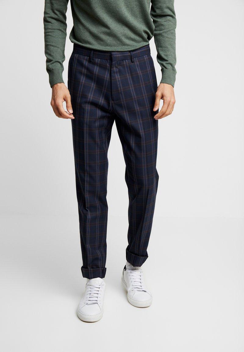 Burton Menswear London - TART CHECK - Spodnie materiałowe - mid blue