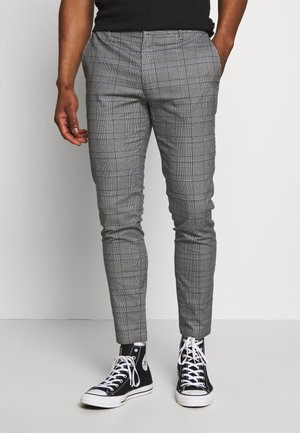 SKINNY CHECK - Chino - grey