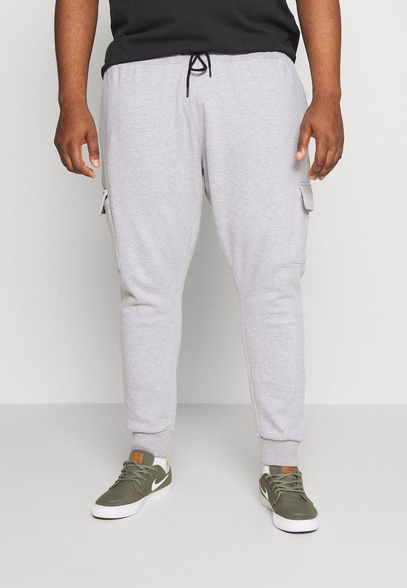 Burton Menswear London - BIG CORE CARGO JOGGER - Tracksuit bottoms - grey marl