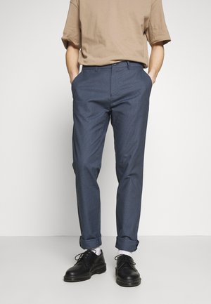 SLIM TEXTYRED - Suit trousers - blue