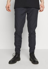 Burton Menswear London - SKINNY TONAL DOGTOOTH  - Trousers - navy - 0