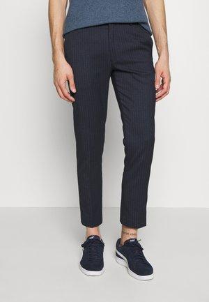PINSTRIPE - Trousers - blue