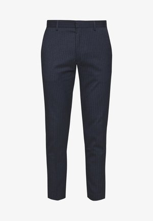 PINSTRIPE - Trousers - blue