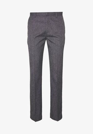 NEW SLIM CROSSHATCH - Trousers - grey