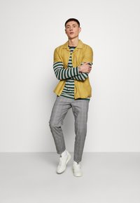 Burton Menswear London - SLIM CHECK FRONT PLEAT ELASTICATED - Kalhoty - grey - 1