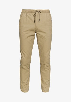 SLIM WASHED - Tracksuit bottoms - stone