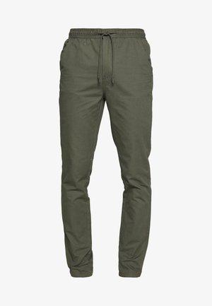 SLIM WASHED - Teplákové kalhoty - khaki