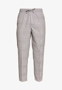 Burton Menswear London - TAPERED POW CHECK ELASTICATED - Trousers - grey - 4