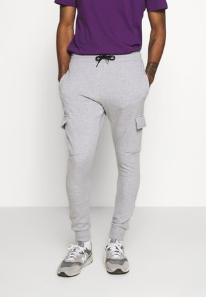 CORE CARGO - Tracksuit bottoms - grey marl