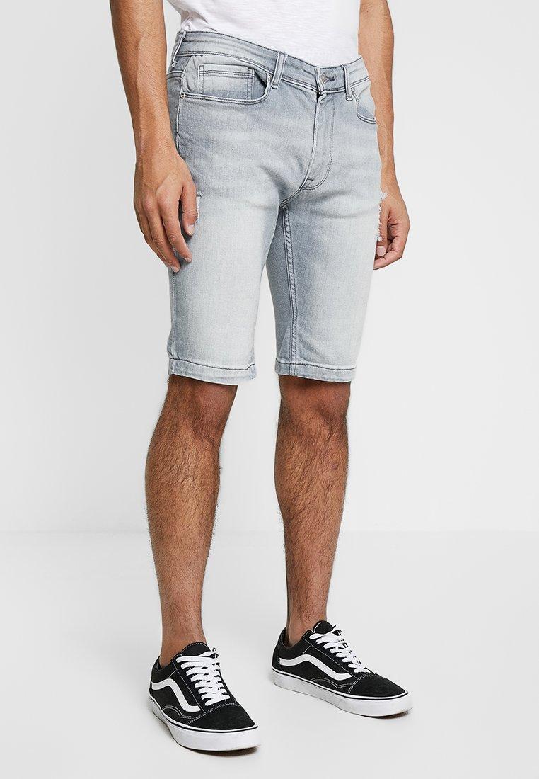 Burton Menswear London - Denim shorts - grey