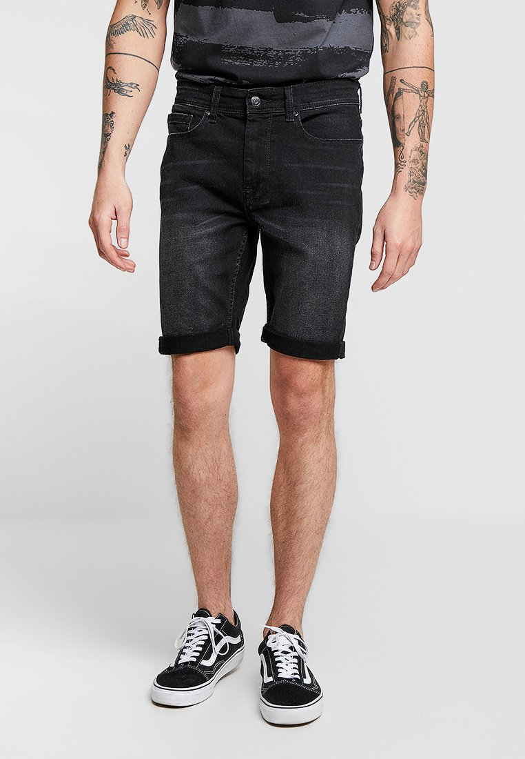 Burton Menswear London - Denim shorts - black