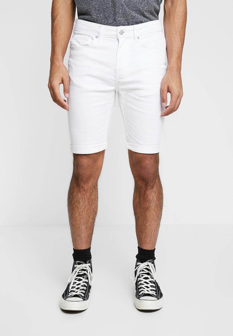 Burton Menswear London - MID  - Denim shorts - white