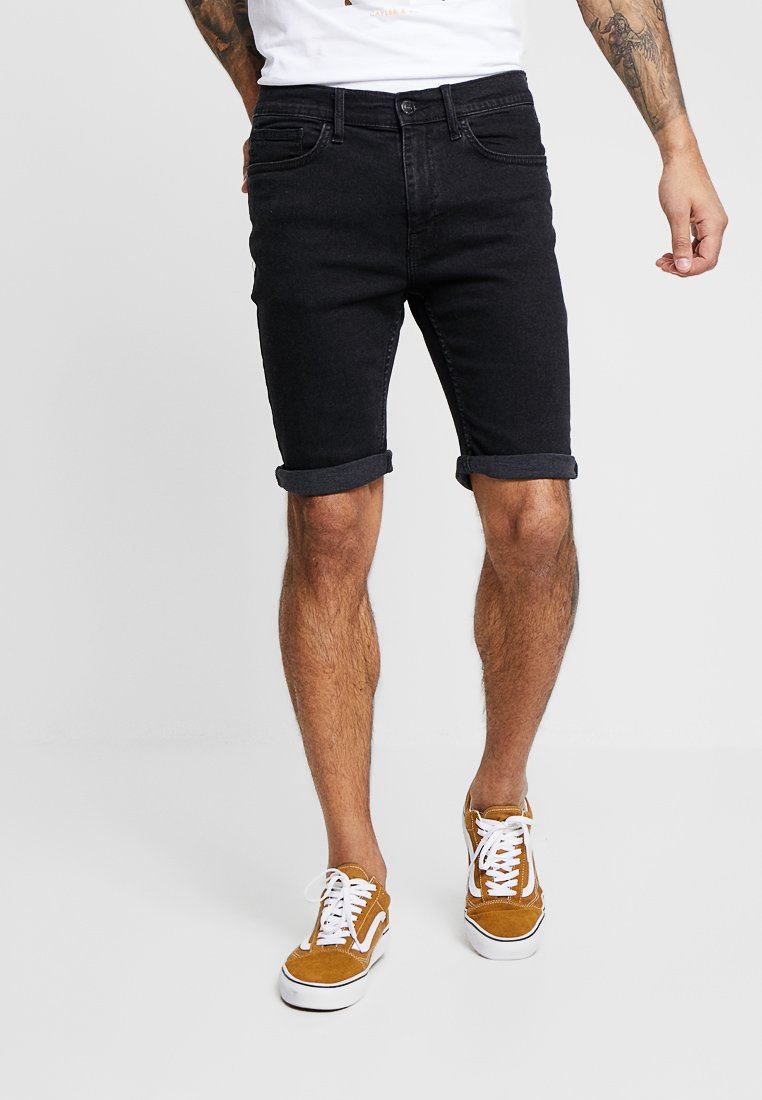 Burton Menswear London - ENTRY PRICE POINT  - Denim shorts - black
