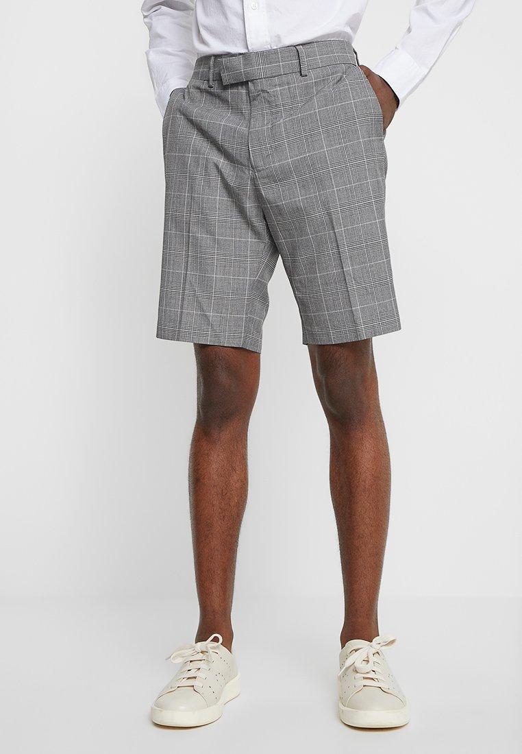 Burton Menswear London - SMART SIDE STRIPE POW CHECK - Shorts - grey