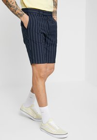 Burton Menswear London - SMART PIN STRIPE - Shorts - navy - 0