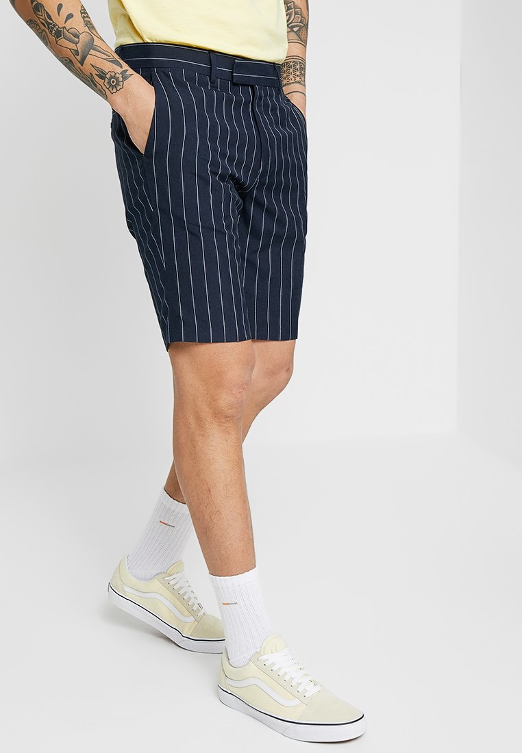 Burton Menswear London - SMART PIN STRIPE - Shorts - navy