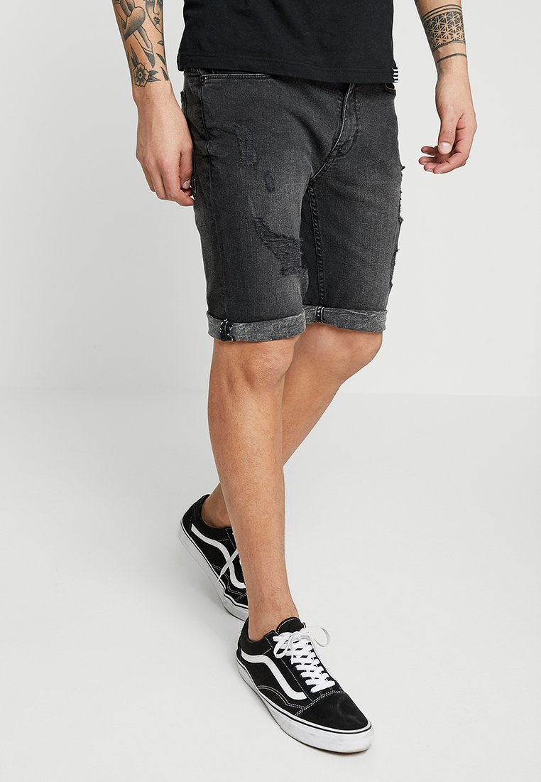 Burton Menswear London - WASHED - Denim shorts - grey