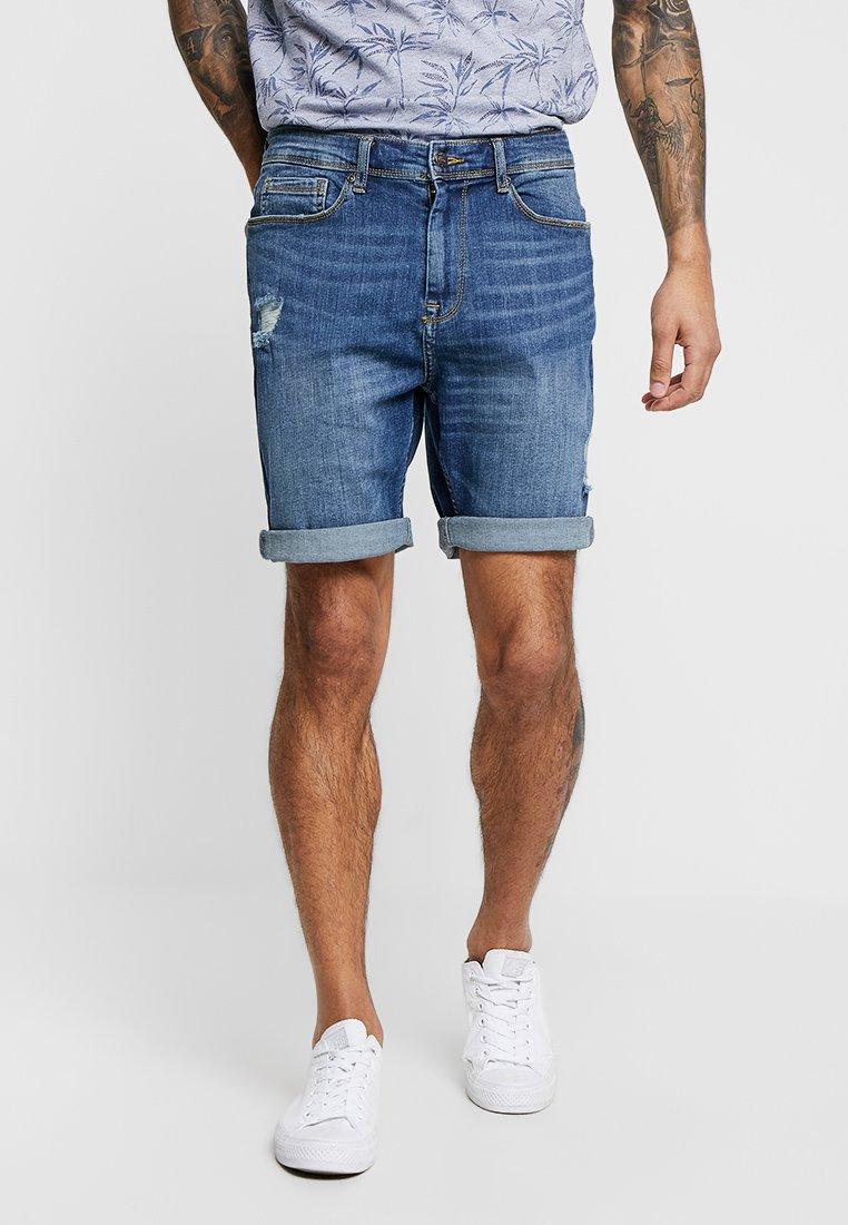 Burton Menswear London - Denim shorts - blue