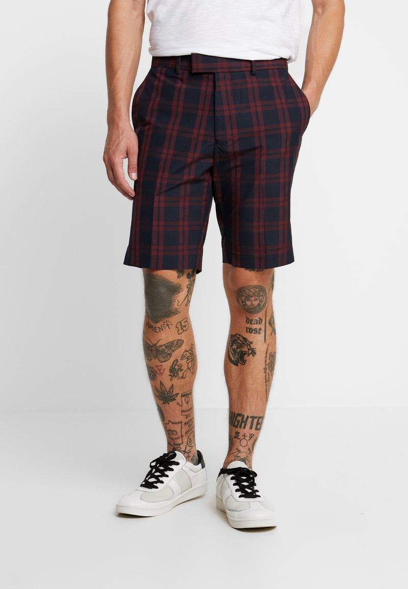 Burton Menswear London - CHECK - Shorts - red