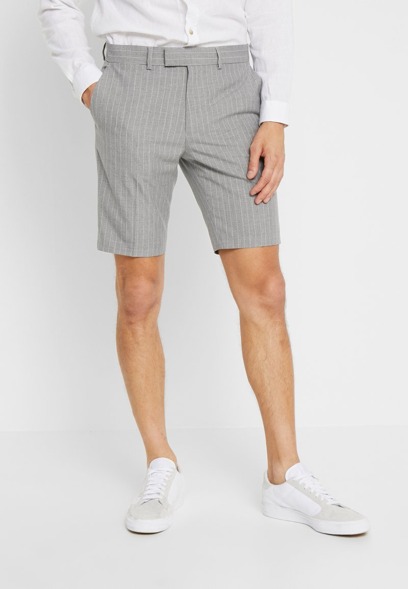 Burton Menswear London - PINSTRIPE SHORT - Shorts - grey