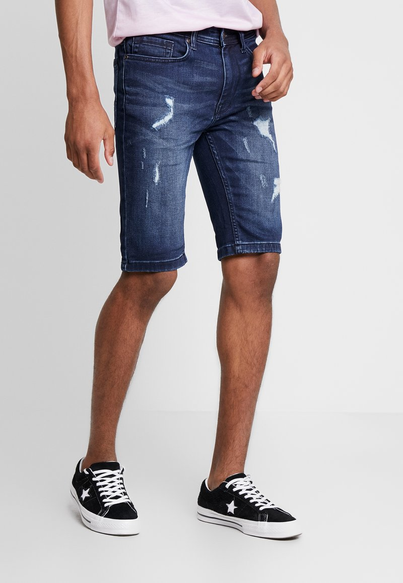 Burton Menswear London - Shorts vaqueros - blue