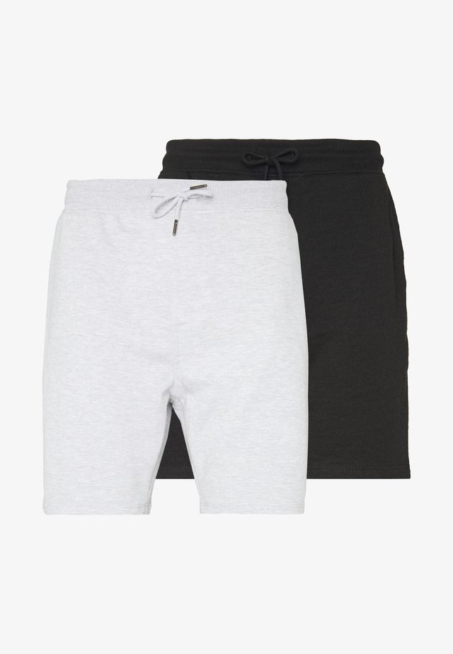 2 PACK - Shorts - black/grey