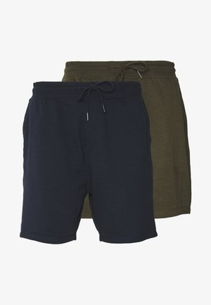 2 PACK - Pantalon de survêtement - navy/khaki