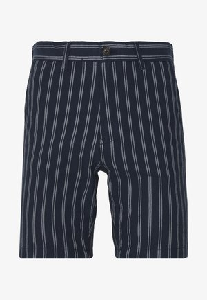 CHARCOAL STRIPE BELTED OXFORD - Shorts - grey