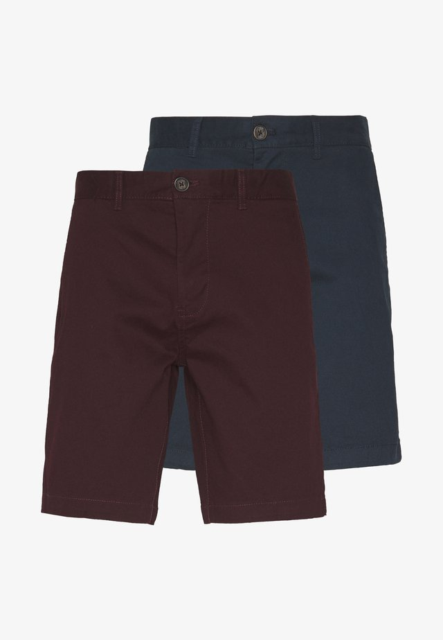 BURG 2 PACK - Shorts - navy/burgundy