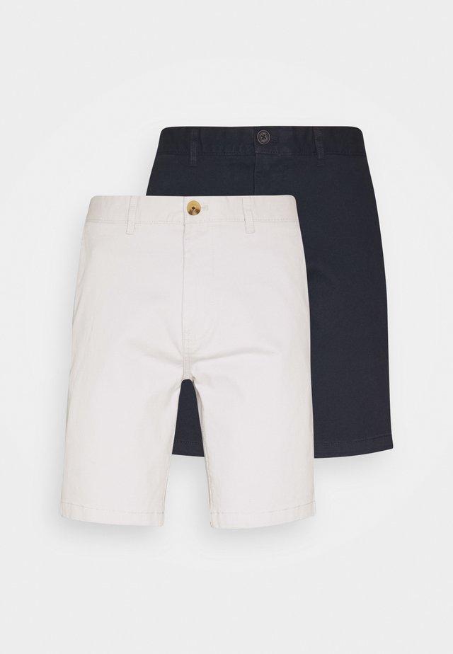 2 PACK  - Shorts - navy/grey