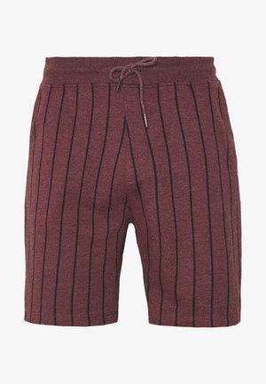 BOLD STRIPE - Teplákové kalhoty - burg