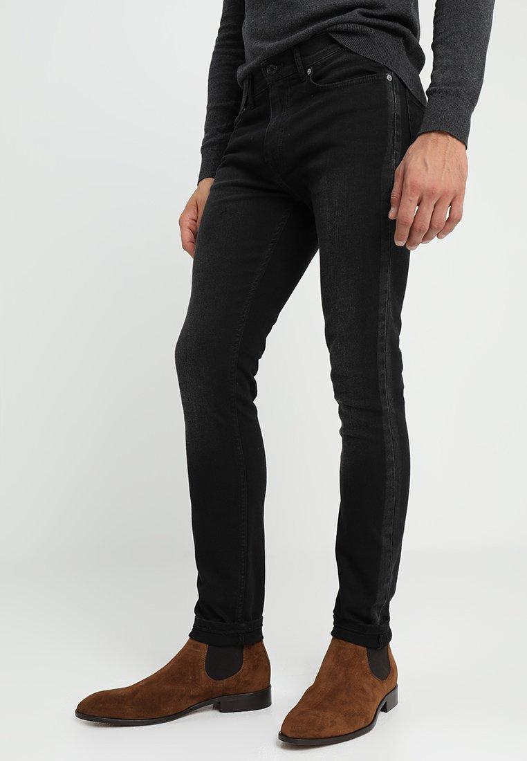 Burton Menswear London - SKINNY GREY SIIDE STRIPE - Jeans Skinny Fit - grey