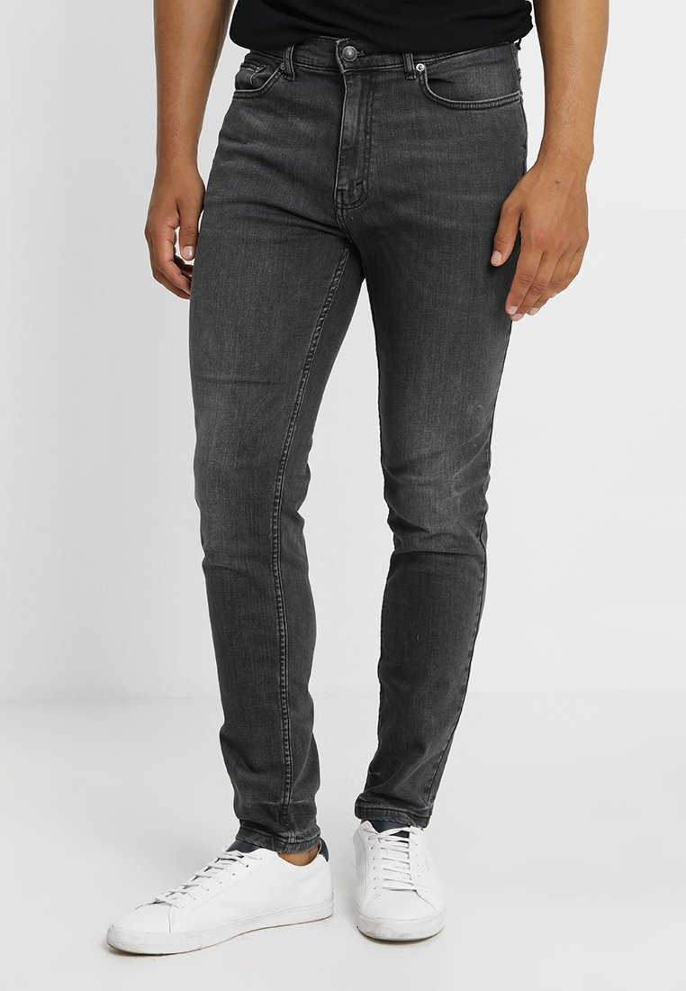 Burton Menswear London - TAPERED WASHED GREY - Jeans Tapered Fit - grey