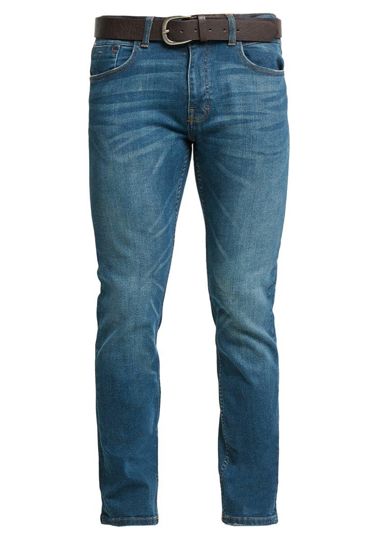 Burton Menswear London - NEW CAST BELTED - Slim fit jeans - blue