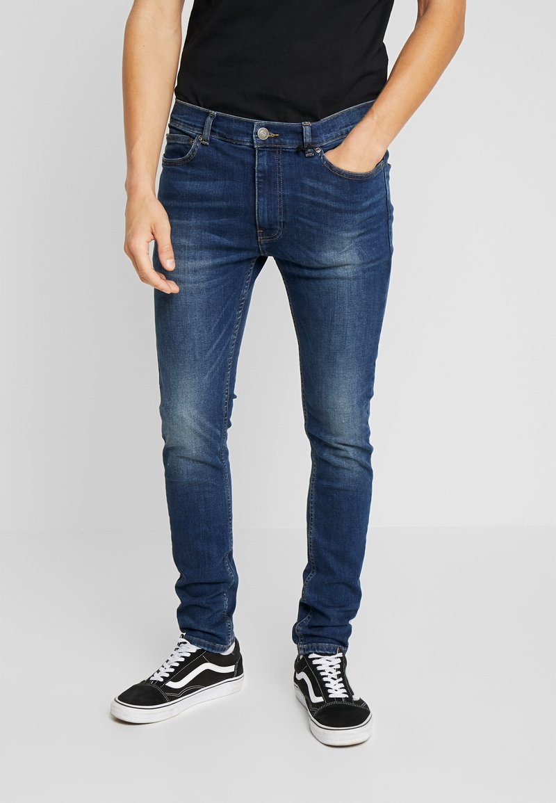 Burton Menswear London - MID BLUE - Jeans Skinny Fit - blue