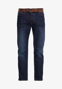 Burton Menswear London - BELTED - Vaqueros rectos - mid blue - 4