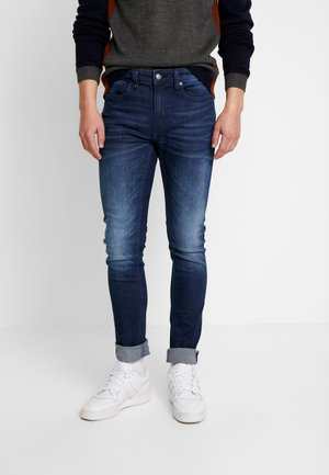 NEW ONLINE RAW CONTRAST INTERNAL ORGANIC - Jeans Tapered Fit - darl blue