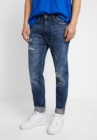 Burton Menswear London - Jeansy Zwężane - dark blue - 0