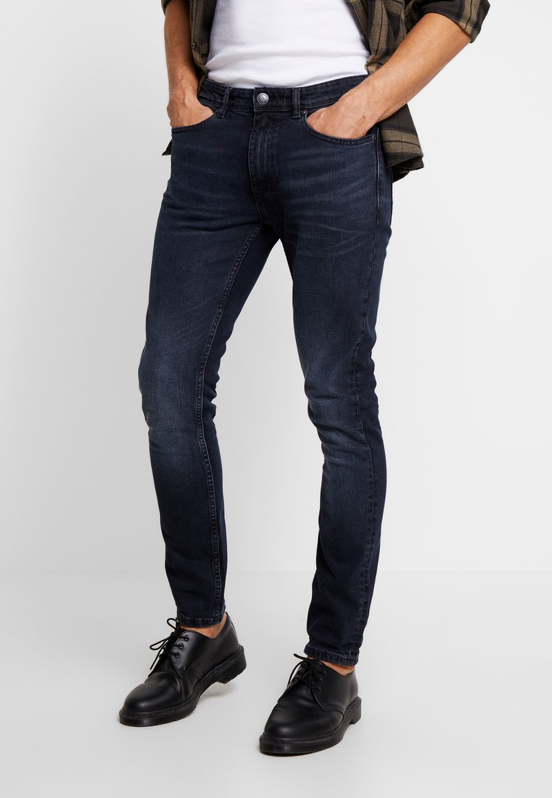 Burton Menswear London - OVERDYE CONT. - Jeans Skinny Fit - navy blue