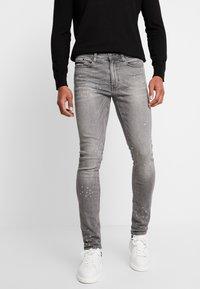 Burton Menswear London - SPLATTER WITH TRIM - Vaqueros pitillo - grey - 0