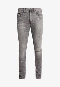 Burton Menswear London - SPLATTER WITH TRIM - Vaqueros pitillo - grey - 4