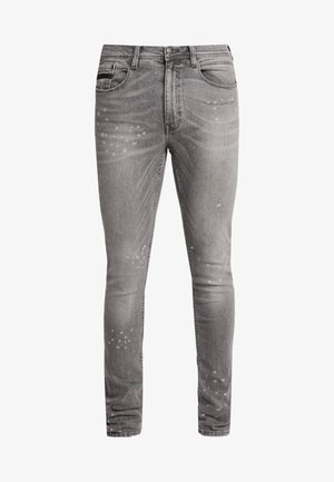 SPLATTER WITH TRIM - Jeans Skinny Fit - grey