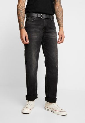 BELTED  - Straight leg jeans - grey