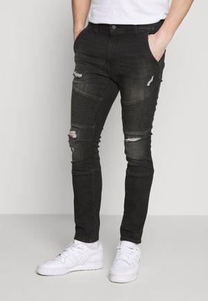 USED BIKER - Jeans Skinny Fit - black