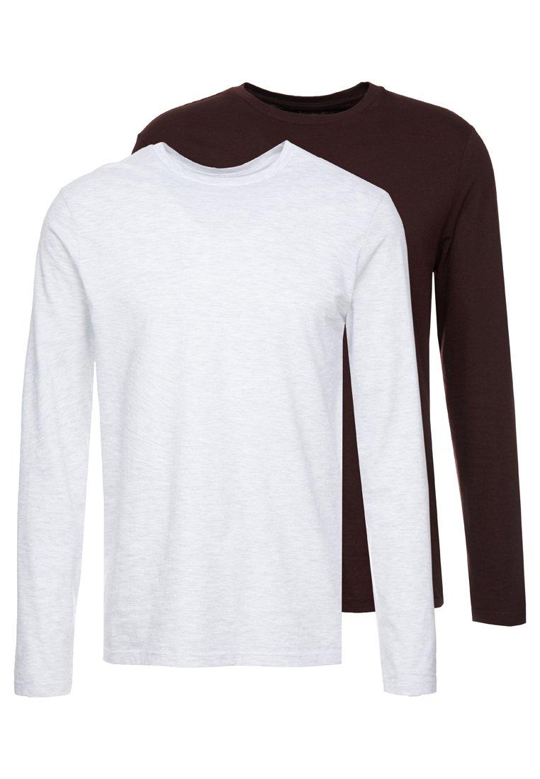 Burton Menswear London - 2 PACK TEE - Langarmshirt - grey