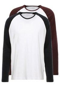 Burton Menswear London - RAGLAN BASIC 2 PACK  - Långärmad tröja - navy/burgundy - 0