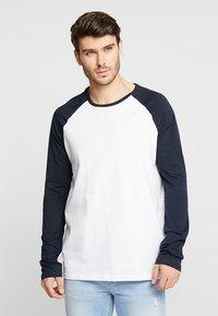 Burton Menswear London - RAGLAN BASIC 2 PACK  - Långärmad tröja - navy/burgundy - 2