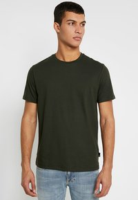 Burton Menswear London - BASIC CREW 3 PACK MULTIPACK - T-shirt basique - khaki/frost/navy - 2