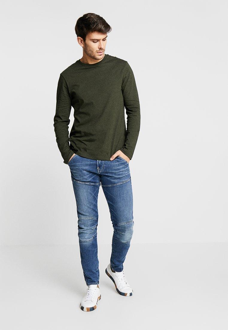 Burton Menswear London - UNI BASIC CREW 2 PACK - Long sleeved top - charcoal/khaki